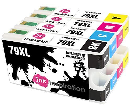 INK INSPIRATION® Ersatz für Epson 79 79XL Druckerpatronen 4er-Pack, kompatibel mit Epson Workforce Pro WF-5620DWF WF-4630DWF WF-4640DTWF WF-5190DW WF-5690DWF WF-5110DW, Schwarz/Cyan/Magenta/Gelb