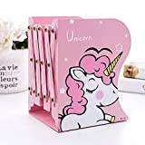 Parteet Book Holder Stand Metal Bookends Adjustable Non-Skid Heavy Duty Book Rack Stand Hold Books, Magazines, Cookbooks