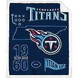 Pegasus Home Fashions Tennessee Titans 60'' x 70'' State Icon Sherpa Throw Blanket