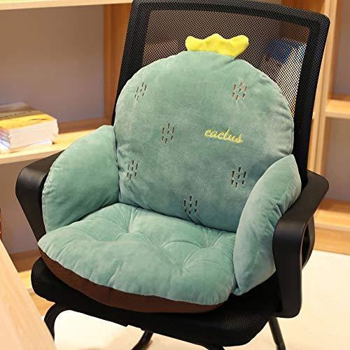 LASIMAO Cartoon Siamese Seat Cushion,Plush Comfort Seat Pad, Semi-Enclosed Soft Floor Seat Office Home Siamese Computer Thicken Chair Cushion,G,55/35/35CM