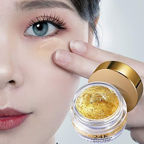 ColorfulLaVie Gold Repair Augencreme, Anti-Augenringe Fett Granulat Repair Augencreme, Feuchtigkeitsspendende Anti Aging Augenserum 20G