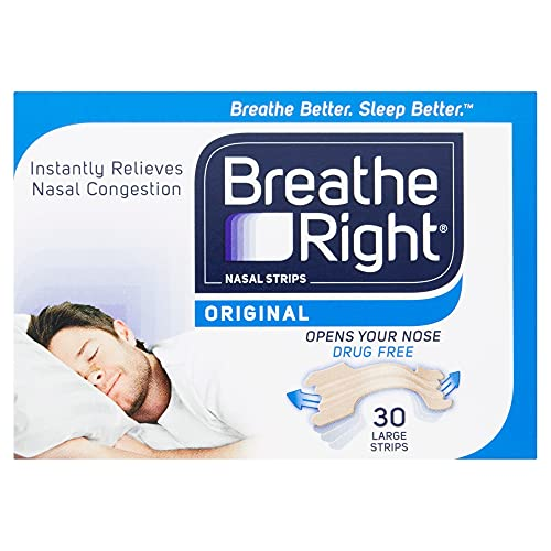 Breathe Right Nasal Strips Original Large 30s   Instantly Relieves Nasal...