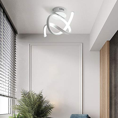 Osairous Lampada da Soffitto LED, Plafoniera a LED in Acrilico 18W, Diametro 31CM Plafoniere Alluminio per Camera da letto Scala Corridoio, 6500K Luce Bianco Freddo