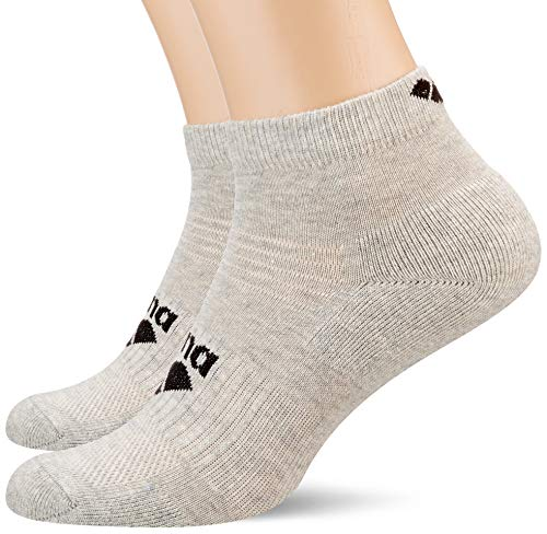 ARENA Calcetines deportivos unisex Basic Ankle, pack de 2 pares de calcetines deportivos, Unisex adulto, Calcetines deportivos, 001118, gris claro, small