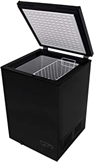 Northair Chest Freezer 3.5 Cubic Feet with Removable Basket, Free-Standing Top Door Freezers 6.8℉ to -4℉ with Adjustable T...