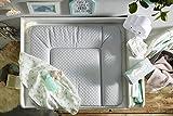 Rotho Babydesign Wickelauflage mit Steppoptik, Modern Square, Ab 0 Monate, 85x72x7cm, Perlsilber, 204430168CH