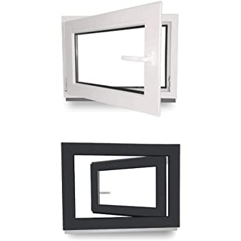 Kellerfenster Kunststoff Dreh Kipp 2-Fach BxH 90x50 cm 900x500 mm DIN rechts