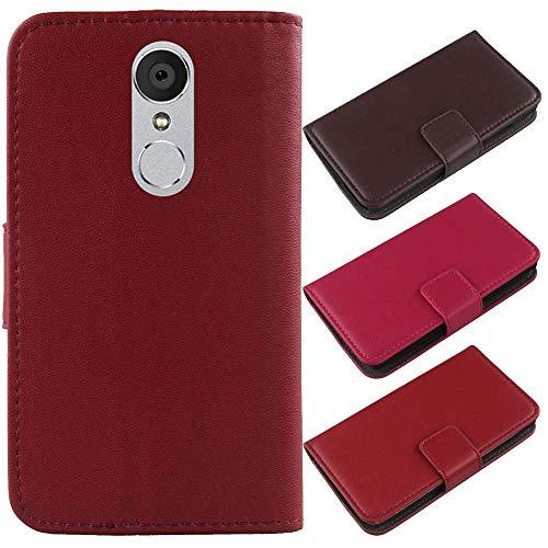QHTTN Dark Rot Echt Leder Tasche Hülle Für Archos Core 55 5.5