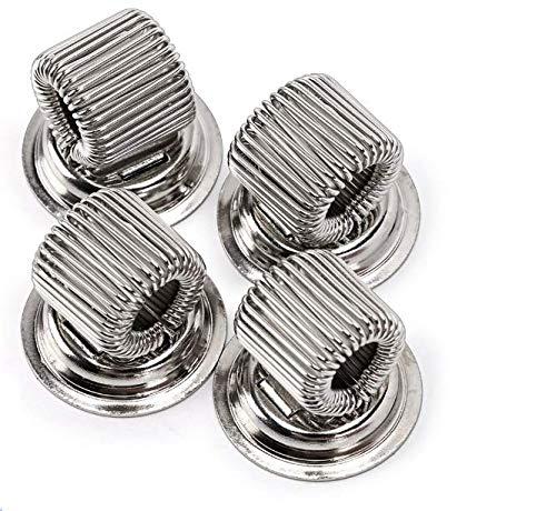 Bullseye Office, portapenne magnetico in acciaio inox color argento, set di 4 portapenne magnetici per lavagne