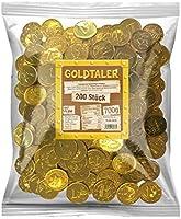 Tise zoetwaren goudtaler euromunten cacaotaler chocoladesmaak kinderverjaardag schatzoekopdracht carnaval worpmateriaal,...