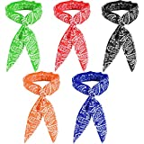 4. SATINIOR Ice Cooling Scarf Cooling Neck Bandana Wrap Headband for Men Women Outdoor Activities (5)