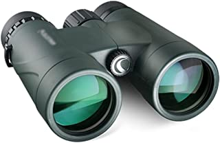 FANGFHOME télescope Jumelles Lunettes de Vision extérieures Télescope Professionnel Haute Puissance 10X42 Film Vert HD Sac...