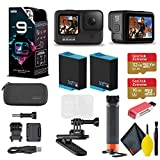 GoPro HERO9 Action Camera - Special Bundle + Floating Hand Grip + Magnetic Swivel Clip + Sandisk 32GB & 16GB SD Cards + 2 Batteries + Case and More. 5K HD Video, 20MP Photos, 1080p Live Streaming