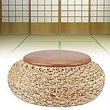 Cuscino per sedili, design con struttura interna in ferro, tappetino intrecciato a mano pu...