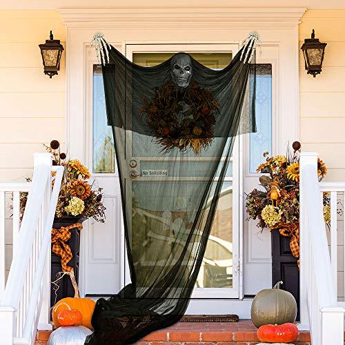 TUPARKA 3 Pezzi Set di Decorazioni di Halloween, Halloween Ghost Prop e 2 Pezzi di Scheletro per Halloween Party Bar Decorations