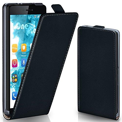 MoEx® Flipcase kompatibel mit Huawei P8 | Klapphülle Handytasche mit Rundum Schutz - Handy Hülle Klappbar Flip Case, Schwarz