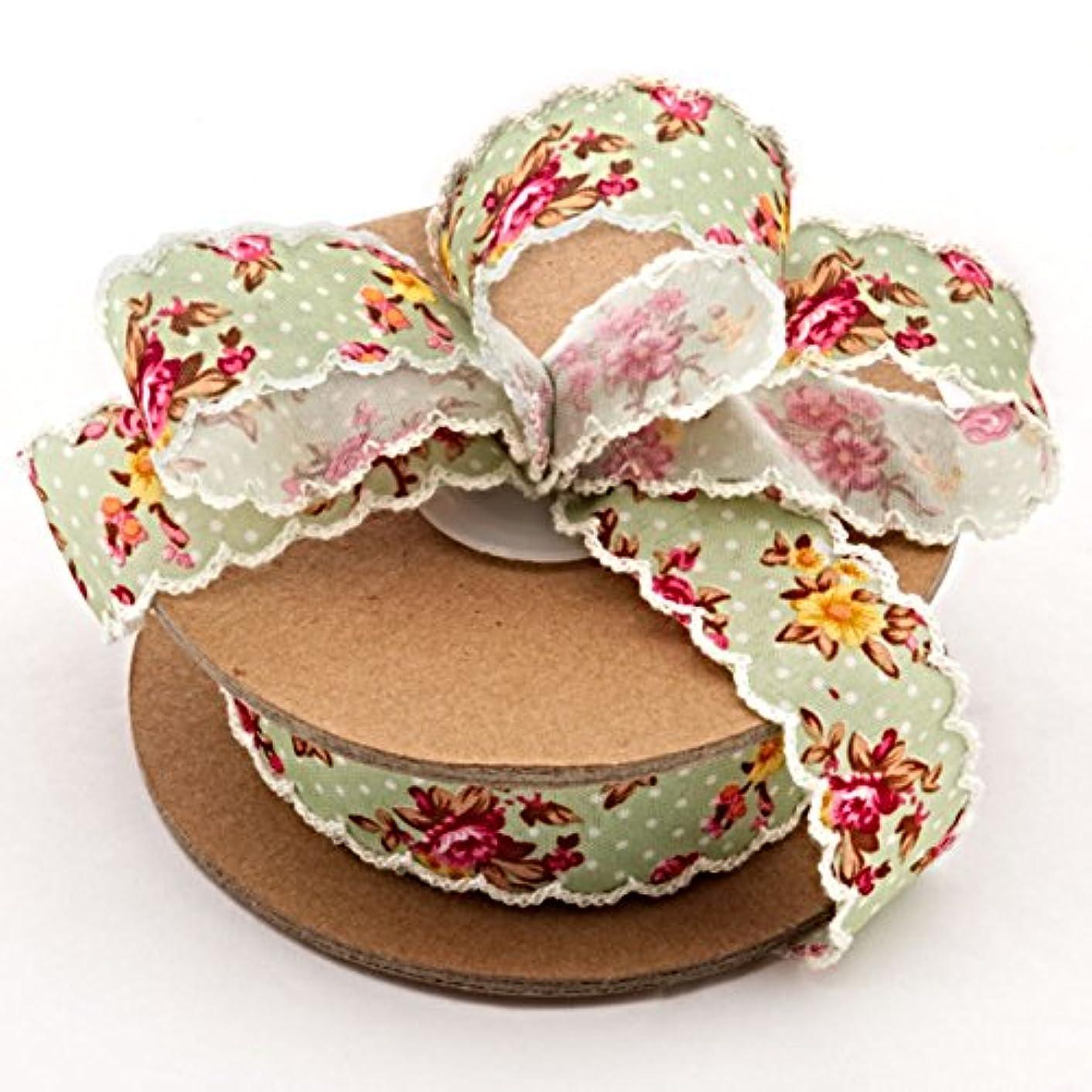 1 X 10 Yards Jena Vintage Floral Ribbon Width 1