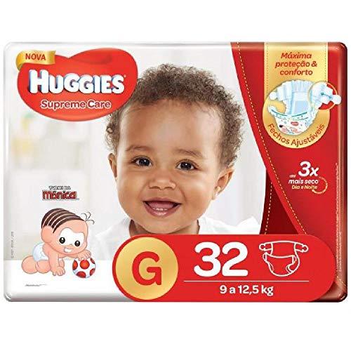 Huggies Fralda Supreme Care Mega G, 32 Fraldas