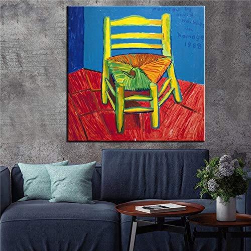 Wereldberoemde schilderij beroemde schilder David Hockney karakter zwemmen Splash kunstenaar Home Decoratie Poster Wand Canvas Woonkamer 60X60CM T