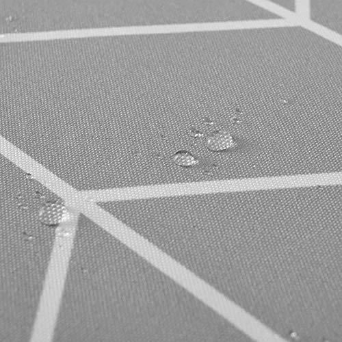 CDFD Grijze Streep Ontwerp Douchegordijn Polyester Waterdicht Bad Gordijn voor Badkamer Mildewproof Bad Gordijnen, 180x180cm