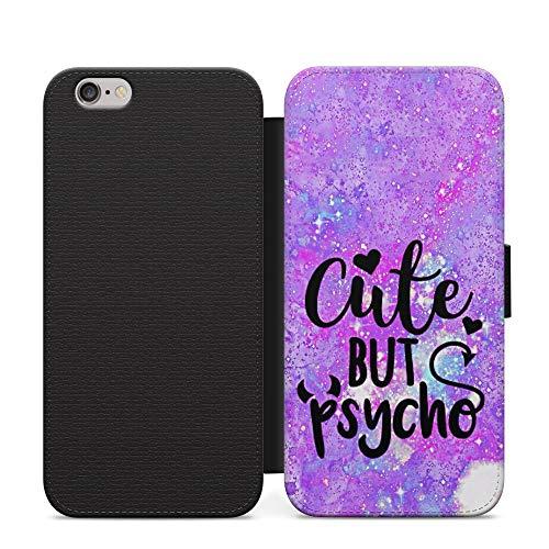 Simple lindo pero psycho niñas cuero cartera teléfono caso y cubierta para Samsung Galaxy Note 10+