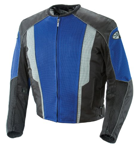 Joe Rocket Phoenix 5.0 Men's Mesh Motorcycle Riding Jacket (Blue/Black, X-Large)
