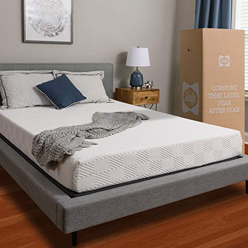 Sealy, 8-Inch, Memory Foam bed in a box, Adaptive Comfort Layers, Medium-Firm Feel, Queen