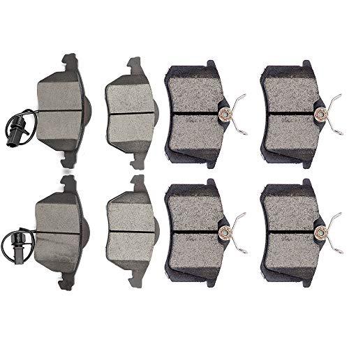 Ceramic brakes Pads,OCPTY Quick Stop Front Rear Brake Pad fit for 1999-2005 Audi A4,1999-2005 Audi A4 Quattro,2000-2004 Audi A6,2000-2004 Audi A6 Quattro,1990-2005 Volkswagen Passat