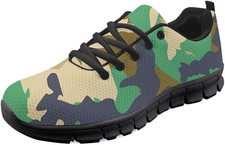 Mumeson Camo Pattern Women Running shoes Lightweight Walking Jogging Sneakers
