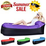Inflatable Lounger, Air Lounger Hangout Bag Air Chair 2017 New Pillow Feature Lazy Lounger LeeBon Air Hammock Inflatable Couch Lazy Bag Laybag - 1 YEAR WARRANTY, Hangout Sofa
