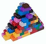 Strictly Briks - Set n.° 2 de Ladrillos Big Briks para Construir - 108 Piezas - Compatible con Todas Las Grandes Marcas - Tacos Grandes - Azul, Verde, Rojo, Amarillo, Negro, marrón y más