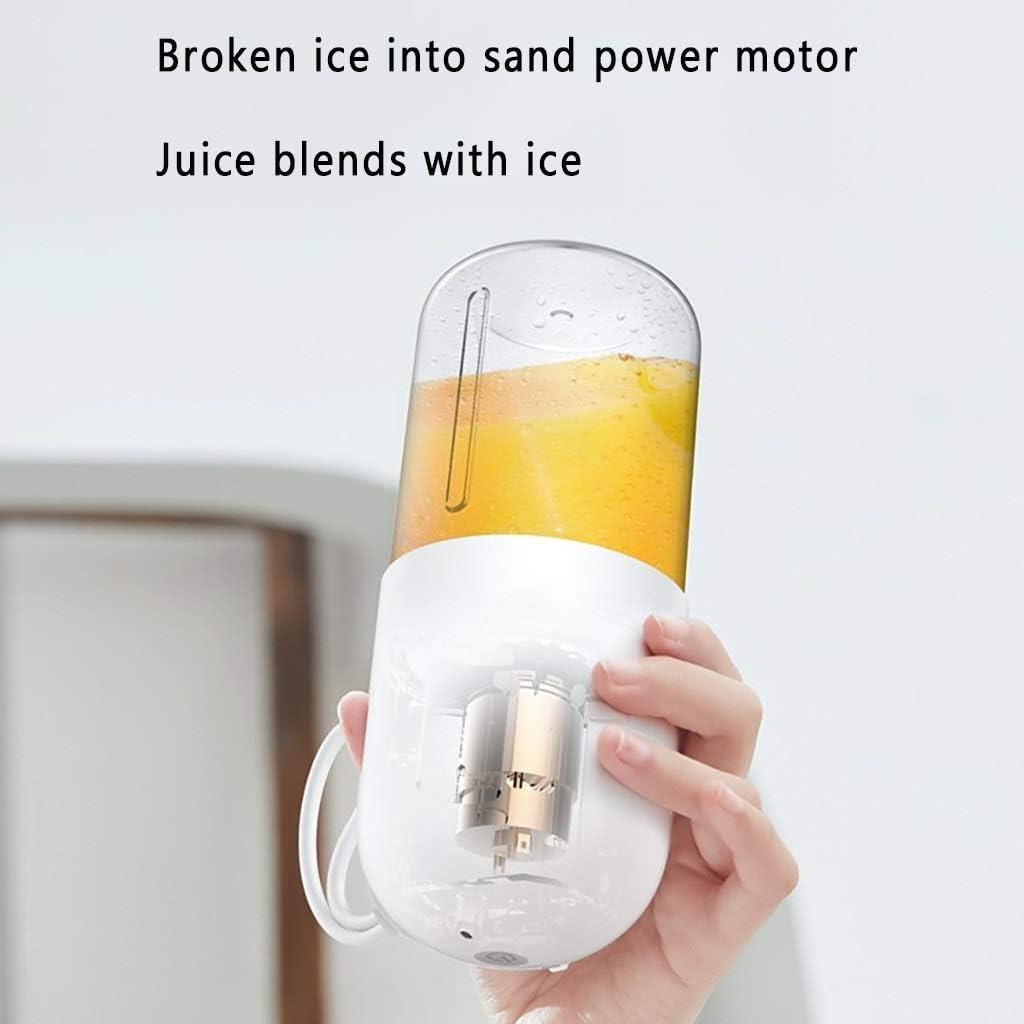 Agradecido por todo Hogar portátil exprimidor de Frutas Mini multifunción Frito Jugo de la máquina eléctrica Taza de Jugo (Color : White) Pink