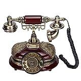 Sorandy Teléfonos Antiguos, Teléfonos Fijos Retro con Sonido Claro, Teléfono Fijo Retro Clásico con Brillo Metálico, Teléfono Retro con Cable para El Hogar, Oficina, Cafetería, Decoración De Bar