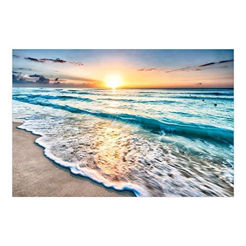 Bilderwelten Fensterfolie Sichtschutz Sonnenuntergang am Strand Fensterbild 54 x 81cm