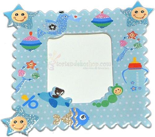 Blau Baby Magnet Bilderrahmen mit verschiedene Figuren