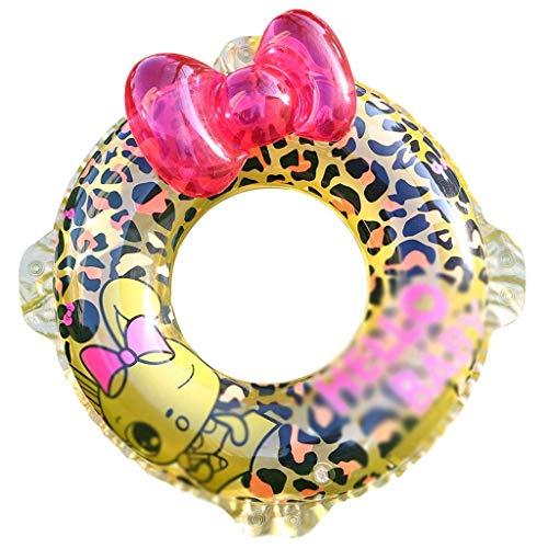 Gcxzb Fila Flotante Inflable Piscina Anillo Inflable Anillo de natación Linda niña niños Nadando laps de natación Equipo Principiante Adulto axila boya Creativa (Size : 80)