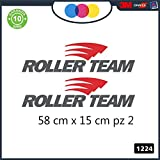 2 pegatinas – Rojo – Negro – Logo – Roller Team – – para caravana, furgoneta y furgoneta – – – – – Cód. 1224