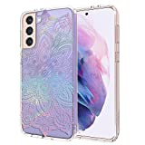 MOSNOVO Galaxy S21 Case, Samsung S21 Case, Rainbow Henna Mandala Slim Clear Case with Women Girl Men Design Shockproof TPU Bumper Protective Cover Case for Samsung Galaxy S21 5G