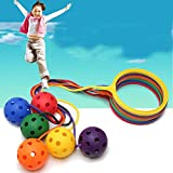 Amiispe Bolas de salto Juguetes Impreso Tolva Ball, Pelota de Goma Deportes Juguetes Interiores Deportes al aire libre, Equipo de Fitness Niños Rebotando Bola Juguetes