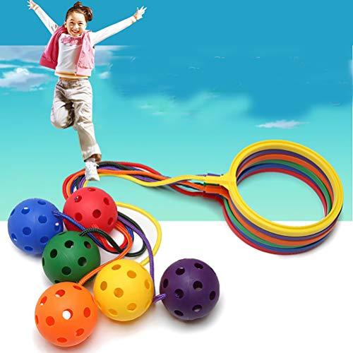 Amiispe Springbälle Spielzeug Bedruckter Hopperball, Rubber Ball Sport Spielzeug für Drinnen Draußen Sport, Fitness-Ausrüstung Kinder Bouncing Ball Spielzeug