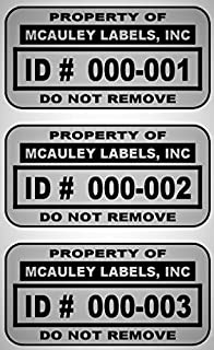 """5000 Custom 1.5"""" x .75"""" Metalized Silver Polyester Asset Tags/Labels""""Featuring Easy Do It Yourself Design"""" (Click Listing ..."""