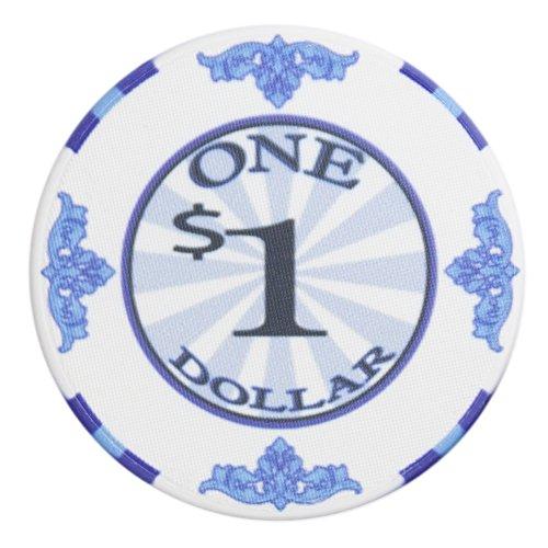 Brybelly Scroll Poker Chip Lightweight 10-Gram Casino Grade Ceramic