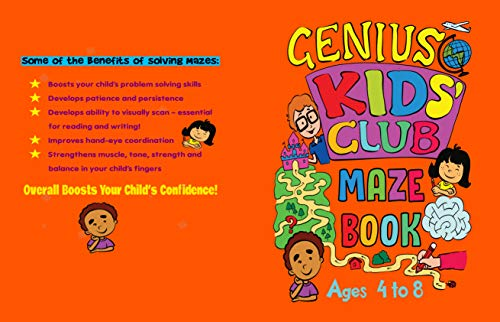 Mazes for Kids Aged 4 to 8: Fun Activity Book to Help Increase Your Child's IQ (Genius Kids' Club) (English Edition)
