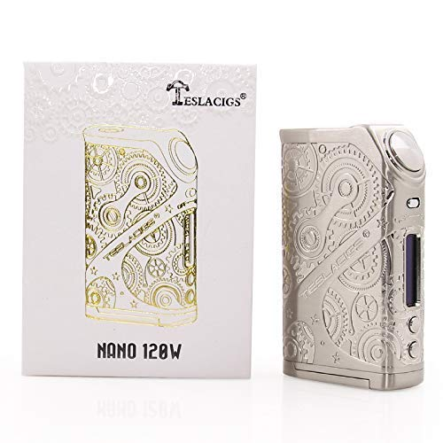 Authentic Teslacigs Nano 120W TC VW Variable Wattage APV Box Mod tesla (Silber)