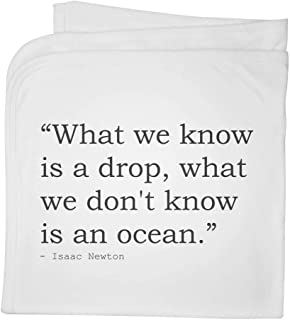 Quote by Isaac Newton Cotton Baby Blanket / Shawl (BY00011396)