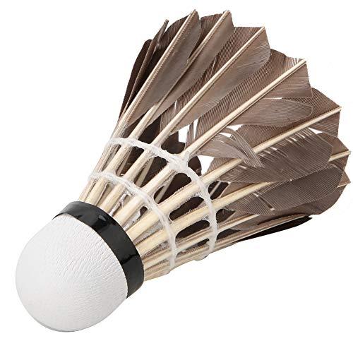 SANON Badminton-Federbälle 12-Teilige Federballbälle aus Gänsefedern mit Großer Stabilität Und Haltbarkeit Birdies-Bälle für Indoor-Outdoor-Sporttrainingsspiele