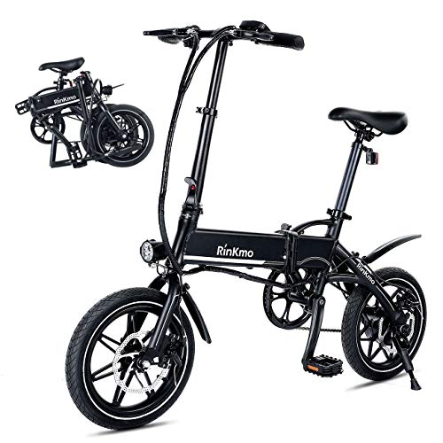 Buy RINKMO FEB-S1 Folding Electric Bike,14 Inch Electric Bicycle with Dual Disc Brakes,36V 8Ah Remov...
