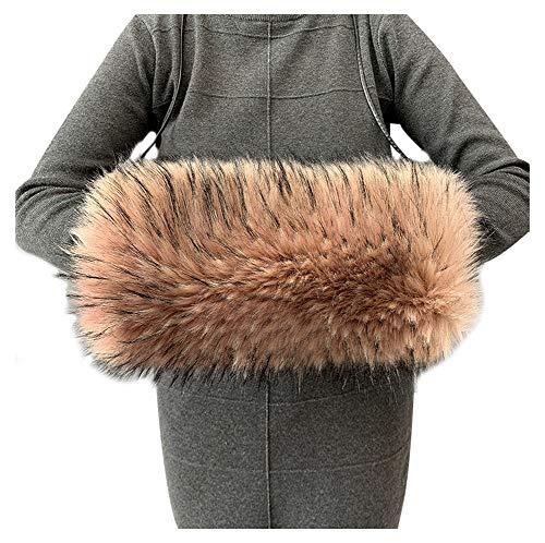 ASKEN Damen Kunstpelz Hand Muffs Gemütliches Winddichtes Leichtgewicht Winter Handgelenk Armwärmer Pink