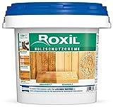 Roxil Holzschutzcreme - 10+ Jahre Witterungsschutz und Hydrophobierung für Weichholz - Einfacher Holzzaun Schutz - 3 Liter