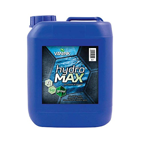 VITALINK Hydro Max Grow per Acqua Dolce 5L A&B Set-IT Nutriente, Blu, 13x19x26 cm